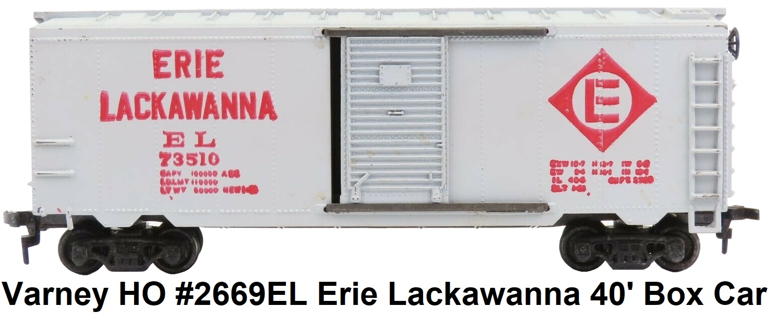 Varney HO #2669 EL Erie Lackawanna 40' Box Car #73510 RTR