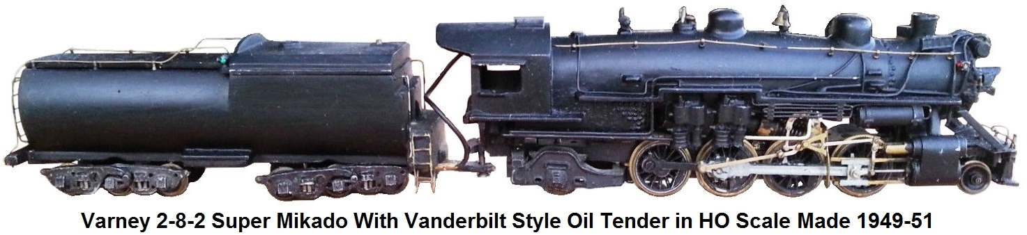 Varney HO gauge 2-8-2 Super Mikado 1788K and Vanderbilt style oil tender made 1949-1951