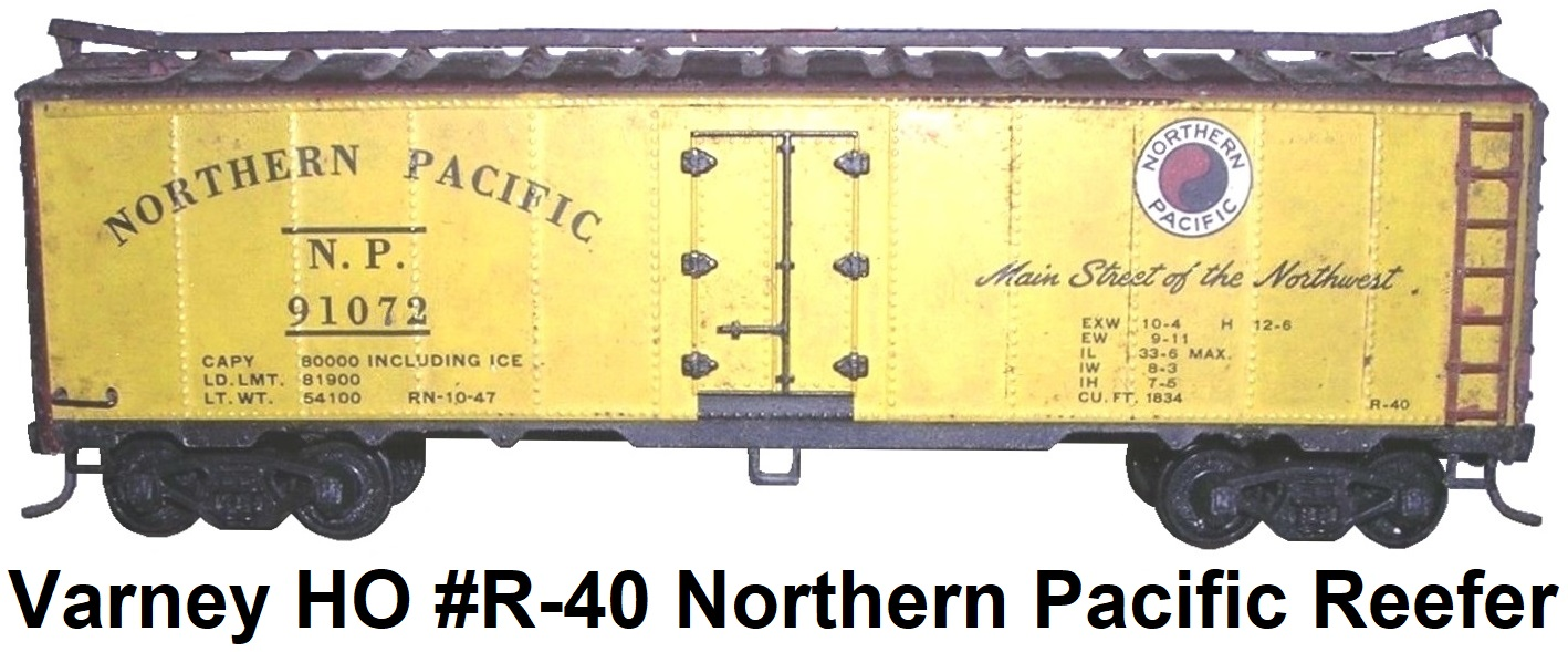 Varney HO #R-40 Kit-built Northern Pacific Steel Reefer