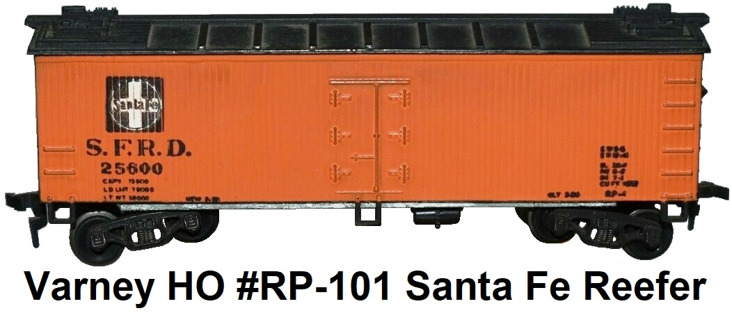 Varney HO #RP-101 Santa Fe 40' wood side reefer