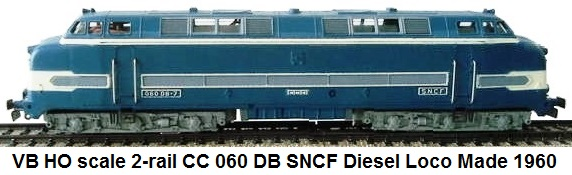 VB HO scale CC 060 DB Diesel loco in SNCF livery for 2-rail circa 1960