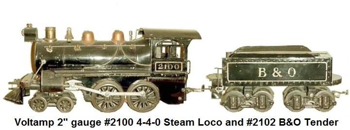 A Voltamp 4-4-0 #2100 Steam loco in B & O livery