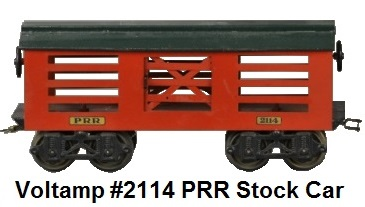 Voltamp 2 inch gauge #2114 PRR stock car 1919-23