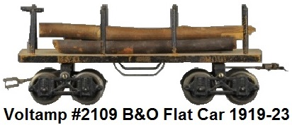 Voltamp 2 inch gauge #2109 B&O flat car 1919-1923