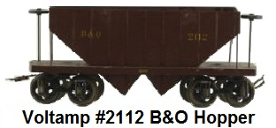 Voltamp 2 inch gauge #2112 B&O coal hopper car