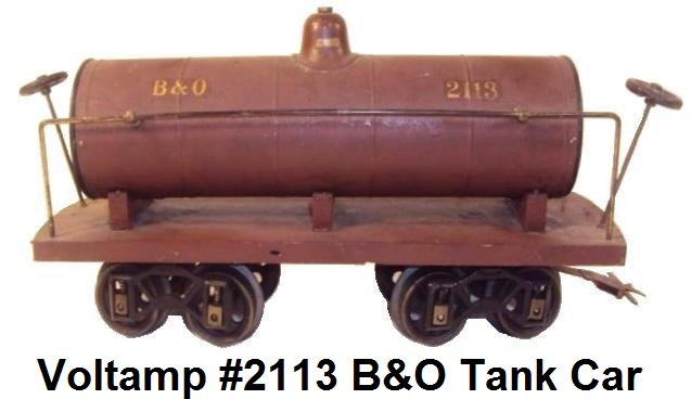 Voltamp 2 inch gauge #2113 B&O tank car