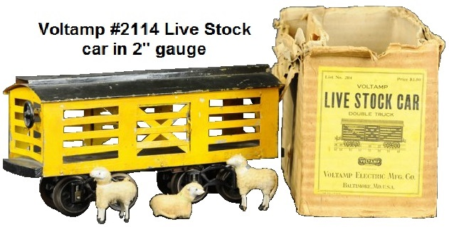 Voltamp #2114 stock car with livestock in 2 inch gauge