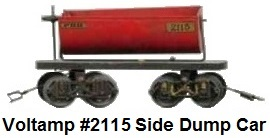Voltamp 2 inch gauge #2115 PRR dump car