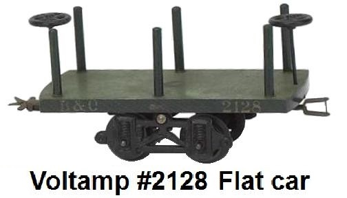 Voltamp 2 inch gauge #2128 stake bed flat car