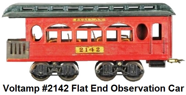 Voltamp #2142 2 inch gauge Observation car with interior seating 1919-1923