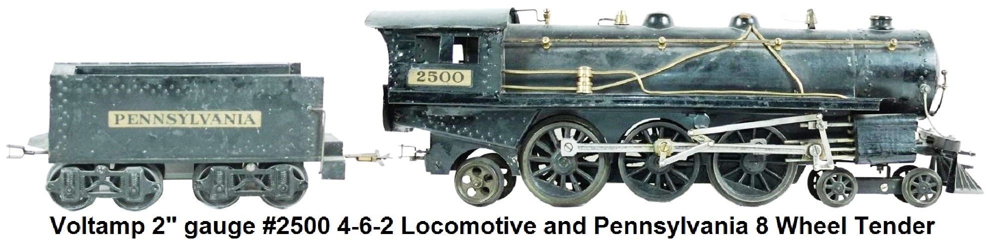 Voltamp 2 inch gauge #2500 4-6-2 Locomotive with Pennsylvania Tender