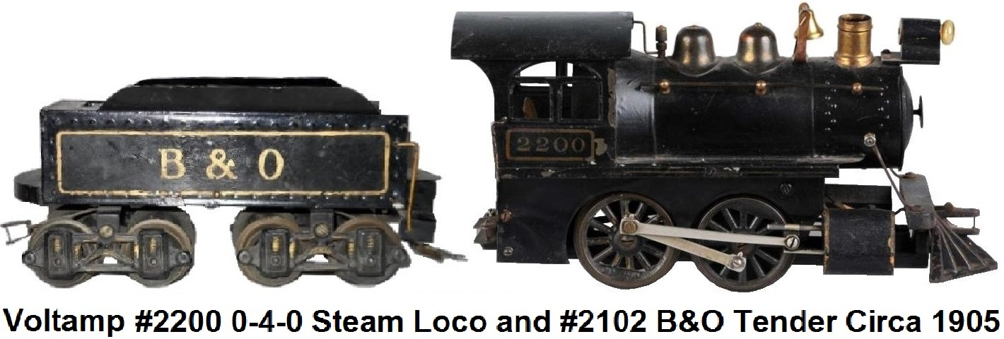 A Voltamp 0-4-0 #2200 Steam loco and tender in 2 inch gauge