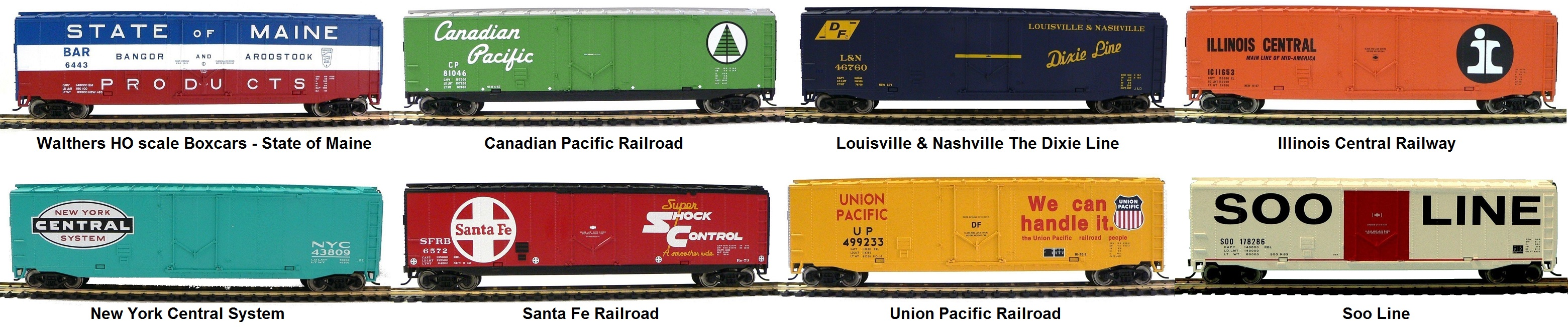 Walther's HO scale boxcars