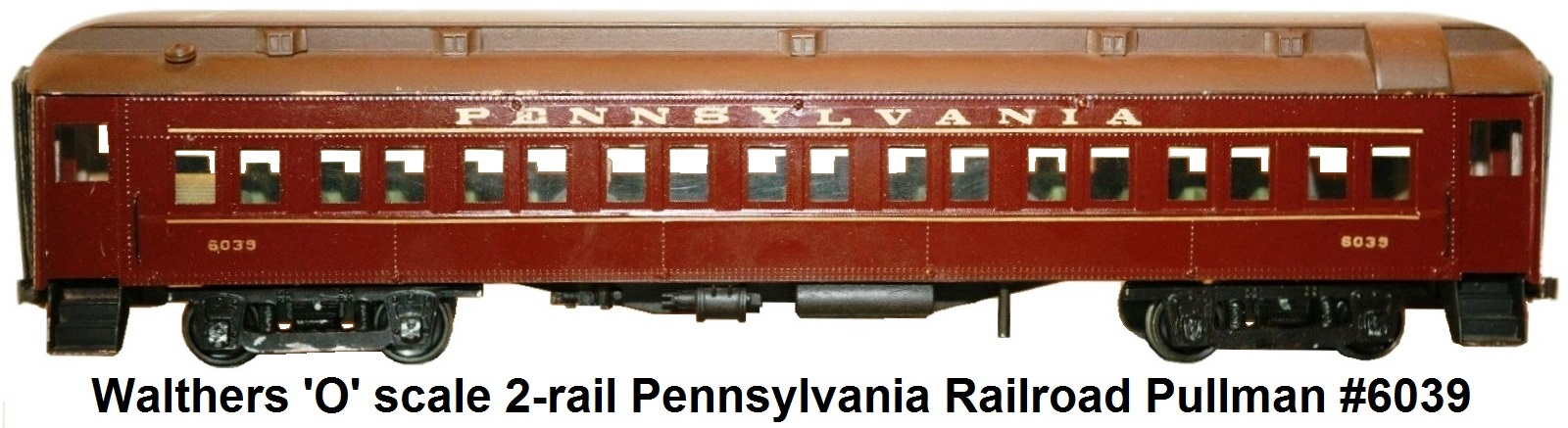 Walther's 'O' scale 2-rail Pennsylvania RR pullman