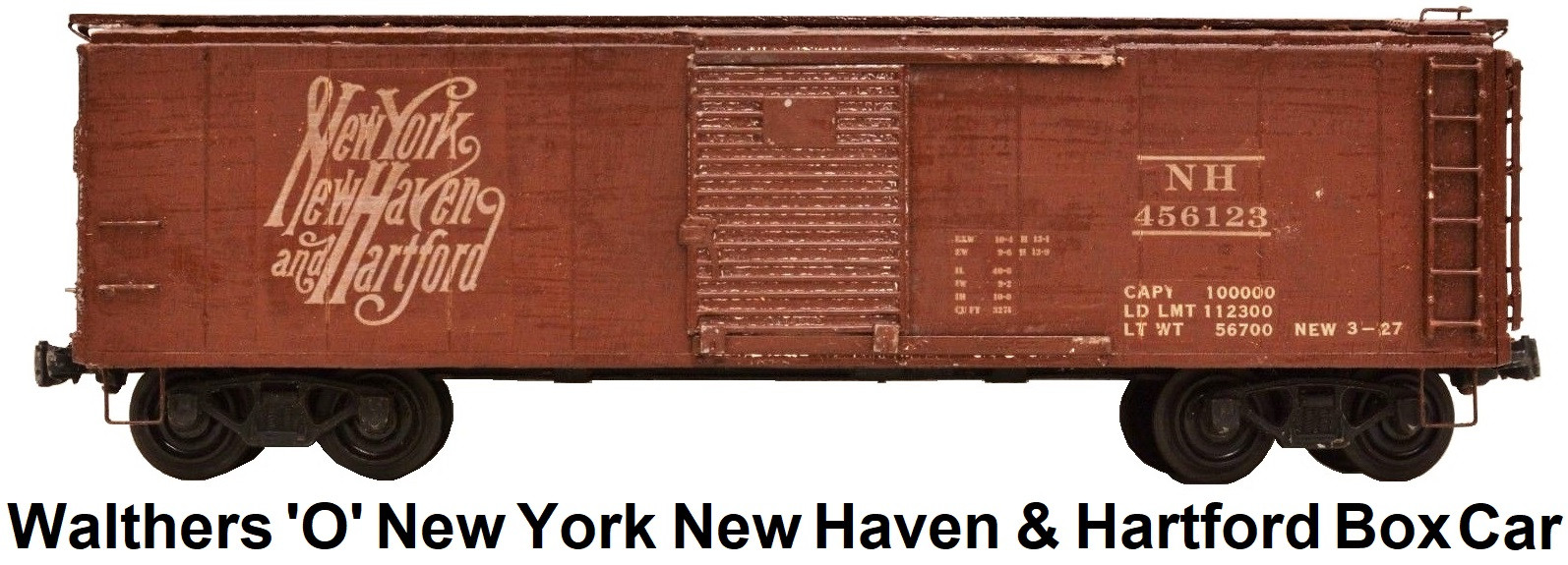 Walthers 'O' scale Kit-built Wood New York New Haven & Hartford Box Car