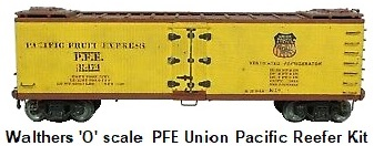 Walthers 'O' scale 2-rail Kit-built Custom PFE Union Pacific Wood Metal Reefer