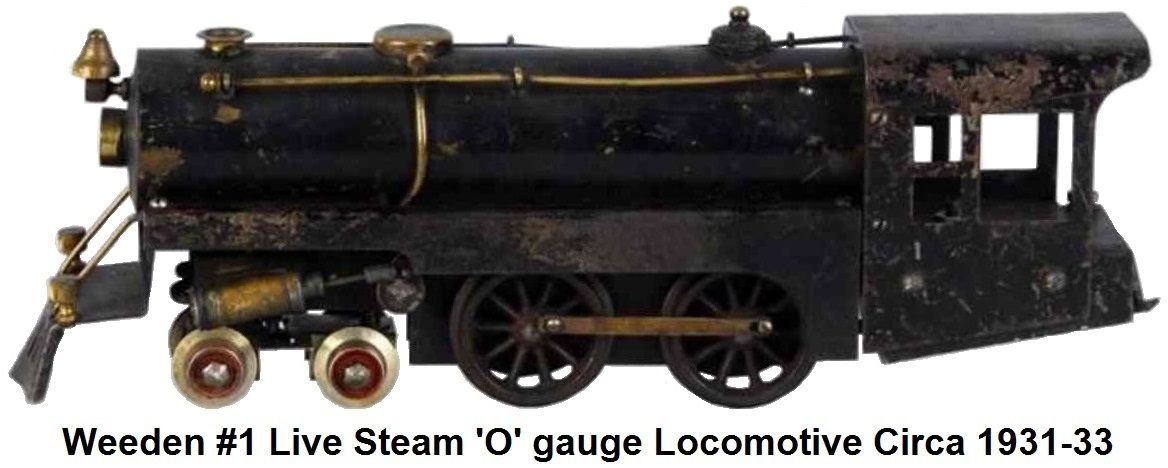 Weeden #1 'O' gauge locomotive introduced in 1931 and produced into 1933