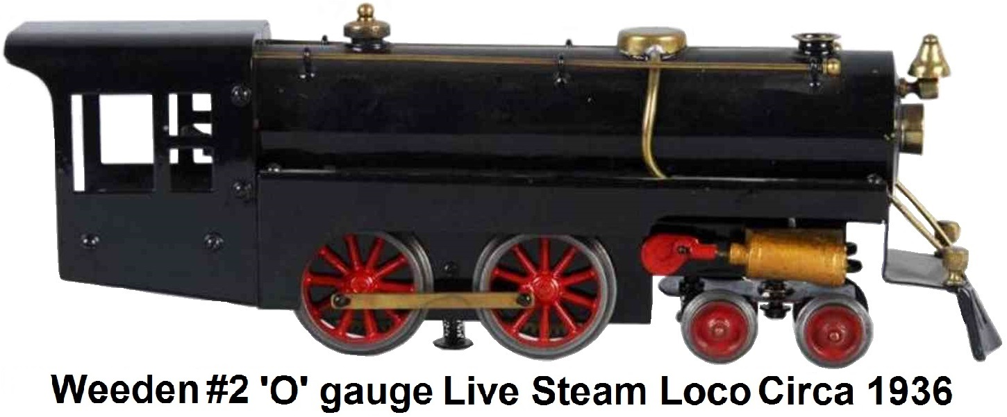 Weeden reare #2 'O' gauge Steam Electric locomotive circa 1936