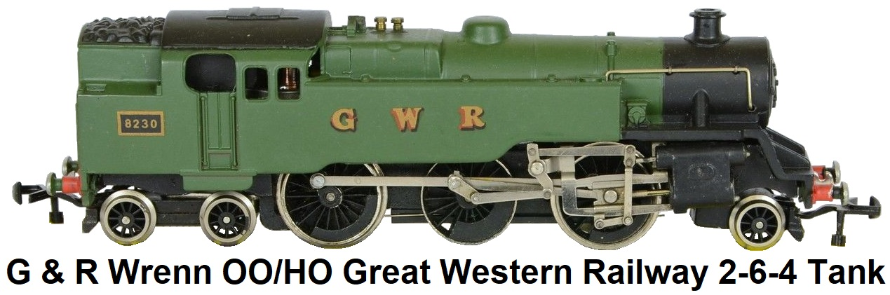 G & R Wrenn Railways OO/HO gauge GWR Great Western 2-6-4 Tank loco #8230