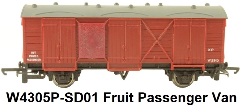 G & R Wrenn Railways OO/HO gauge W4305P-SD01 GWR Passenger Fruit Van