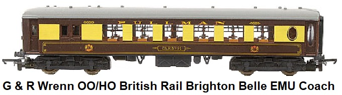G & R Wrenn Railways OO/HO gauge BR brown cream Brighton Belle EMU Pullman car
