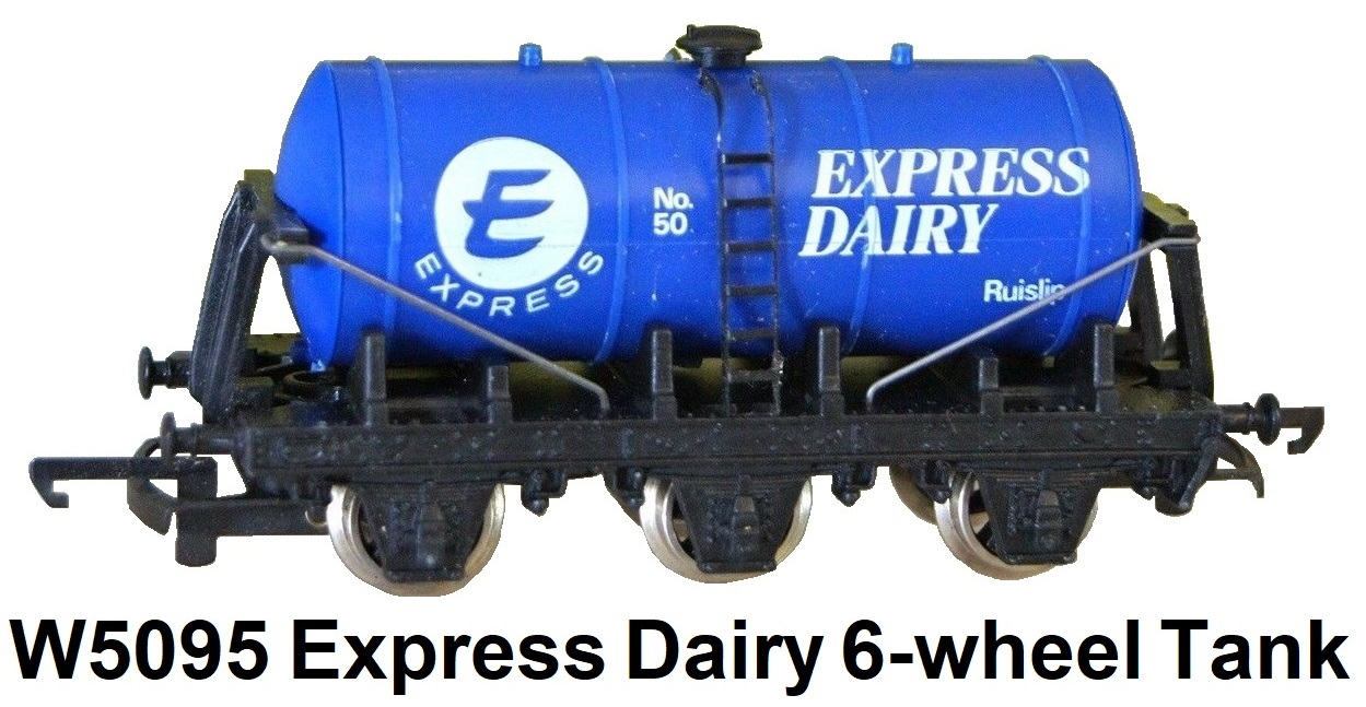 G & R Wrenn Railways OO/HO gauge W5095 Express Dairy Ruislip 6-wheel Milk Tank Wagon #50