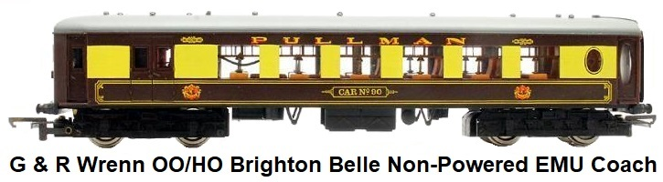 G & R Wrenn Railways OO/HO gauge BR brown cream Brighton Belle EMU Non-Powered Pullman car