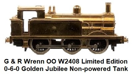 G & R Wrenn Railways OO/HO gauge W2408 Limited Edition 0-6-0 Golden Jubilee Tank Non-powered Locomotive