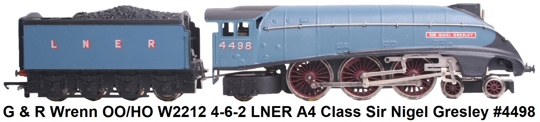G & R Wrenn Railways OO/HO gauge W2212 4-6-2 LNER blue A4 Class Locomotive and Tender Sir Nigel Gresley