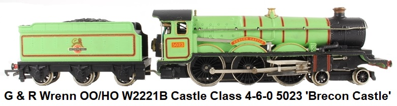 G & R Wrenn Railways OO/HO gauge W2221B Castle Class 4-6-0 5023 'Brecon Castle' in BR Experimental